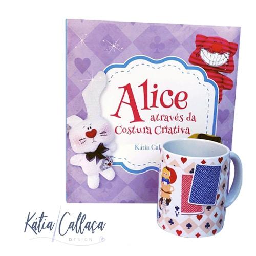 Caneca De Porcelana Alice
